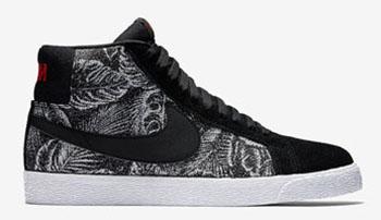 Nike SB Blazer Black Orange Leopard Release Date