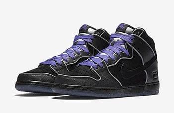Nike SB Dunk High Black Purple Box Release Date