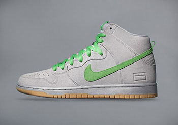 Nike SB Dunk High Silver Box