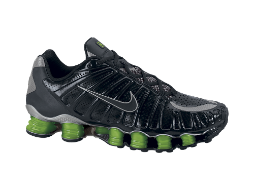 Nike Shox TLX Black/Black-Action Green-Metallic Silver