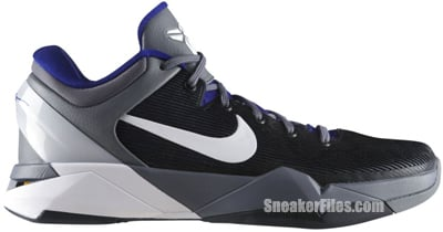 Nike Zoom Kobe VII System Concord White Grey Del Sol Release Date 7ad29b2ce850