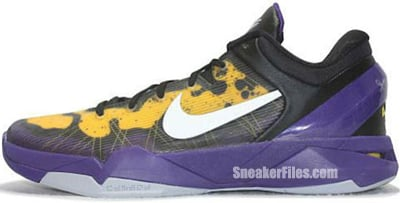 dacc9fe19724 Nike Zoom Kobe VII System Court Purple Grey Yellow Poison Dart Frog Release  Date
