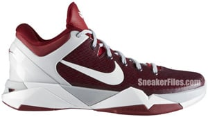 Nike Kobe VII System Team Red White Metallic Silver Release Date