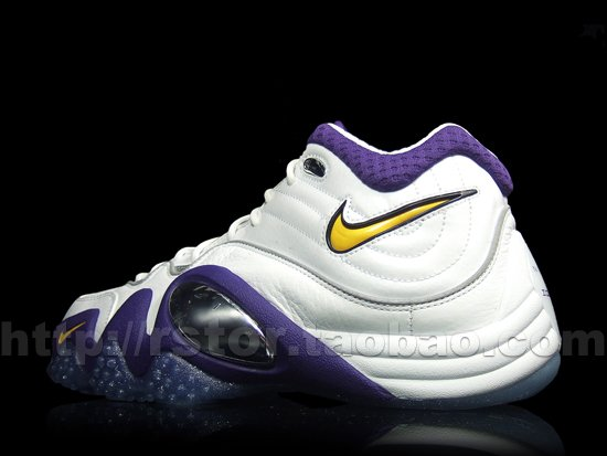 Nike Zoom Uptempo V White/Purple-Yellow