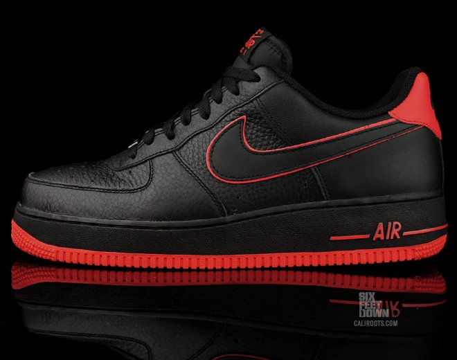 air force 1 low black and red