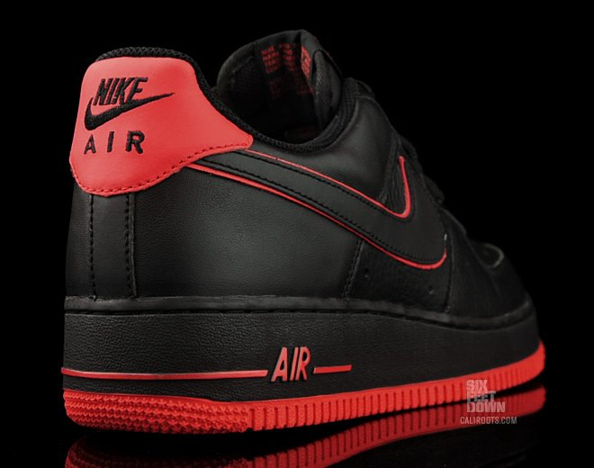 Release Reminder  Nike Air Force 1 Low  Black Action Red   dbb9e08e0