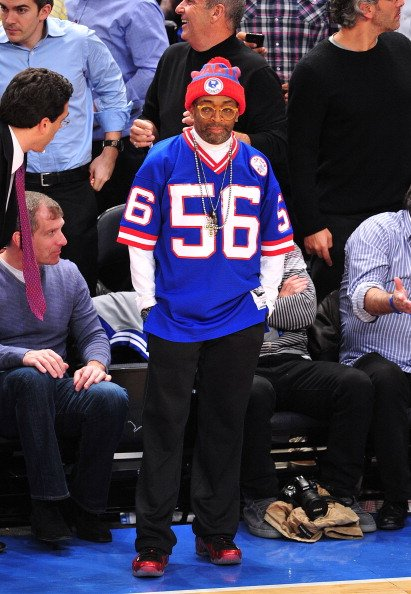 Spike Lee Rocks the 'Metallic Red' Air Foamposite One Courtside at MSG