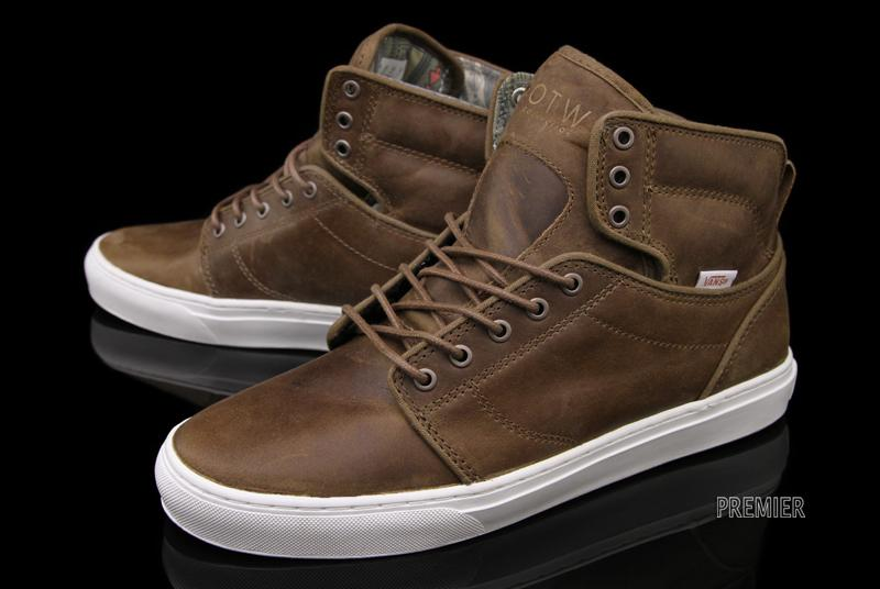 e4e261793f32 brown leather high top vans - sochim.com