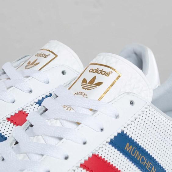 adidas Originals Munchen 'White/Lone Blue-Light Scarlet'