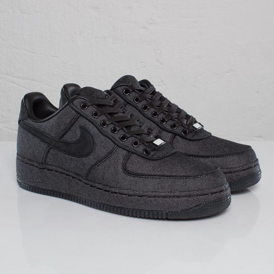 . asustado Mejorar  Nike Air Force 1 Low Premium 'Black Denim' - Another Look | SneakerFiles