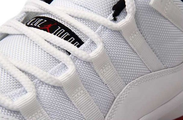 Air Jordan XI (11) Low 'White/Black-Varsity Red' - Additional Images