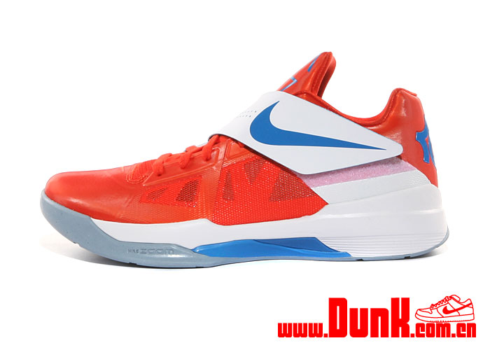 Nike Zoom KD IV 'Team Orange/Photo Blue-White'