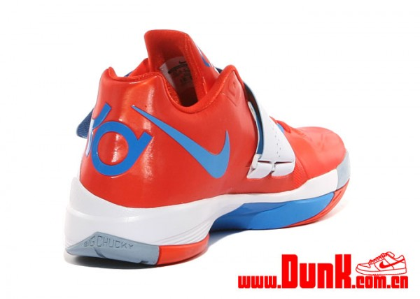 low-cost Nike Zoom KD IV Team Orange Photo Blue White