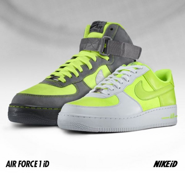 Nike Air Force 1 iD 'Tennis Ball' - Now Available