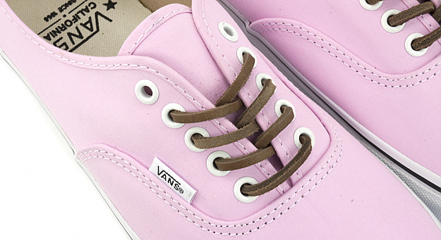 87d23d4dacbf2 Vans CA Authentic Brushed Twill  Pink  - Now Available