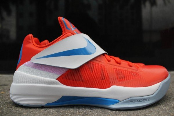 cheap for discount ba06d 6c472 Nike Zoom KD IV  Team Orange Photo Blue-White  - Now Available