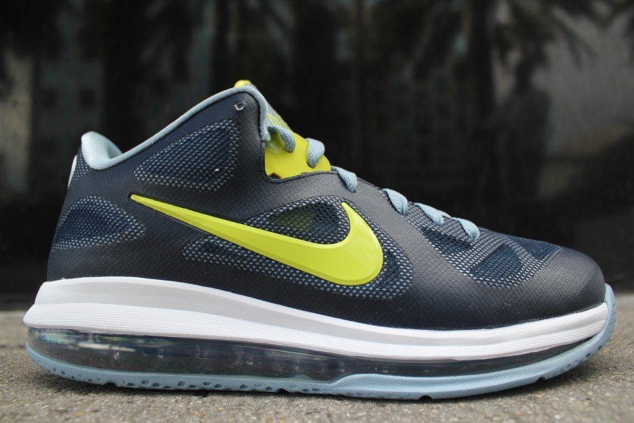 new arrival 07161 130bb Nike LeBron 9 Low  Obsidian Cyber-White-Blue Grey