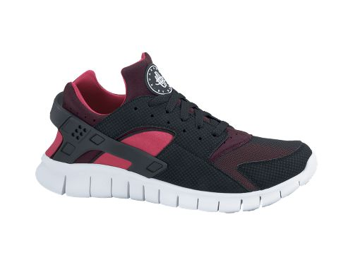 196dfdbfb52 Nike Huarache Free 2012  Black Red Mahogany-Scarlet Fire  - Now Available