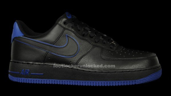 Release Reminder: Nike Air Force 1 Low 'Black/Black-Old Royal'