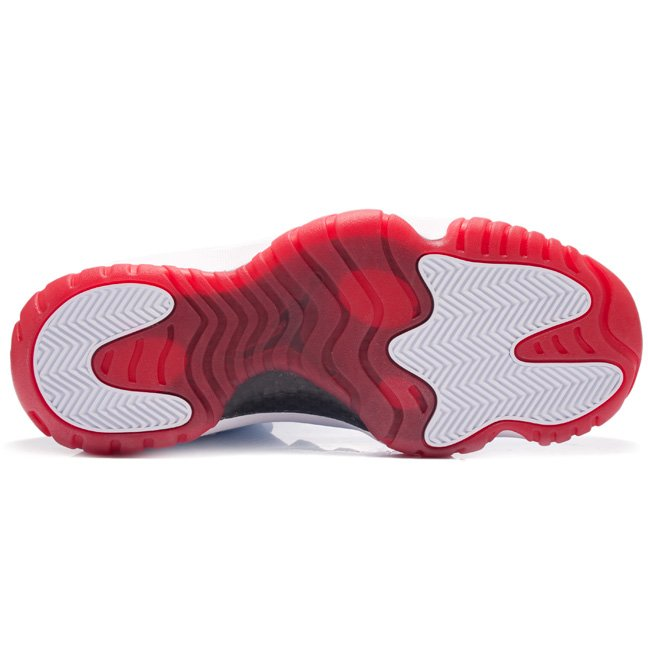 Air Jordan XI (11) Low 'White/Black-Varsity Red' - More Images