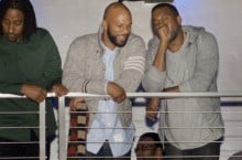 Celebrity Sneaker Watch: Kanye West Parties With Common in 'Cement' Jordan IVs