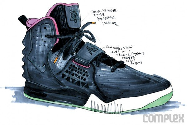 Nike Air Yeezy 2 Concept Sketches