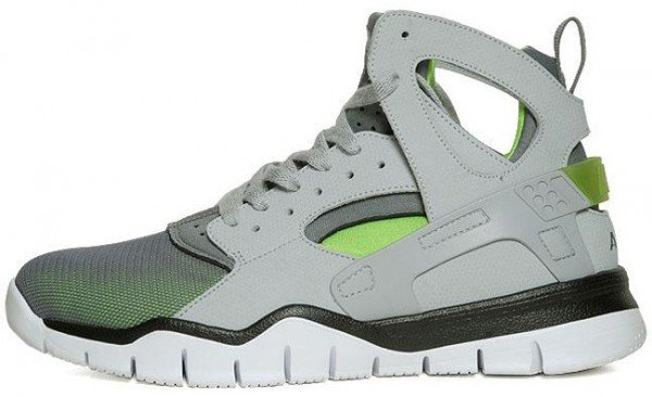 283501a85688 Nike Air Huarache BBall 2012  Wolf Grey Action Green