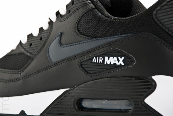 nike air max 90 leather black and white