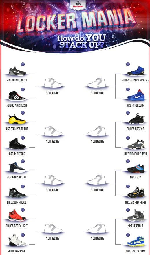 Foot Locker's 'Locker Mania' Sneaker Tournament Returns