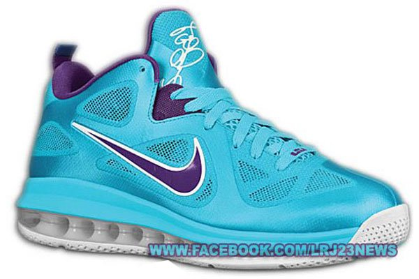 huge selection of 6170d 8b2fa Nike LeBron 9 Low TurquoisePurple-White