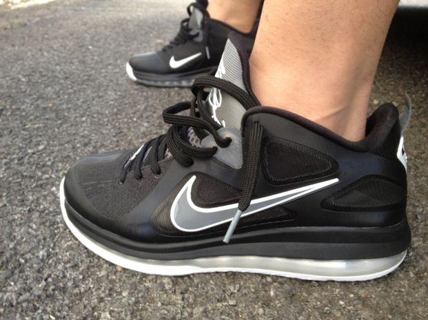 the latest 8a3d3 c93d4 Nike LeBron 9 Low  Black Grey-White