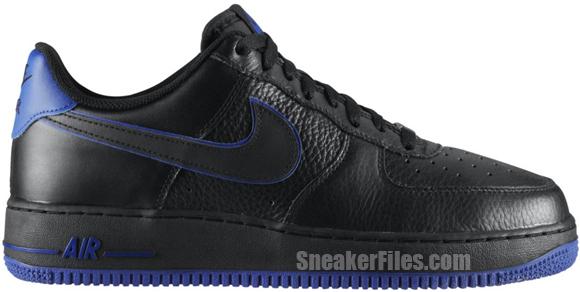Nike Air Force 1 Low 'Black/Black-Old Royal'