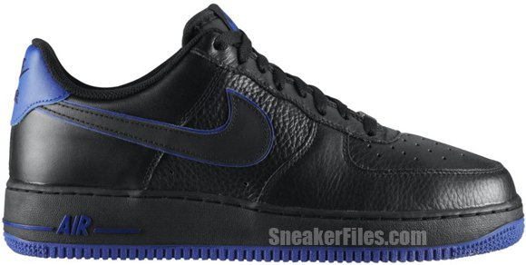 Nike Air Force 1 Low 'Black/Black-Old Royal'