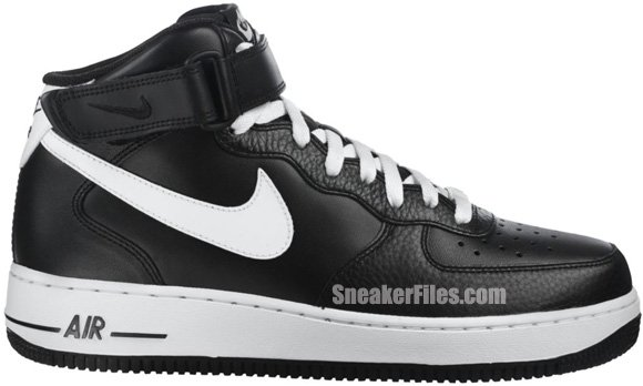 Release Reminder: Nike Air Force 1 Mid 'Black/White'