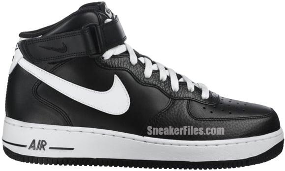 Nike Air Force 1 Mid  Black White-Black   f756a1ef57