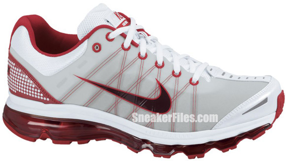 Nike Air Max+ 2009 'White/Red Mahogany-Sport Red'
