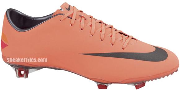 Nike Mercurial Vapor VIII FG 'Bright Mango/Metallic Dark Grey-Challenge Red'