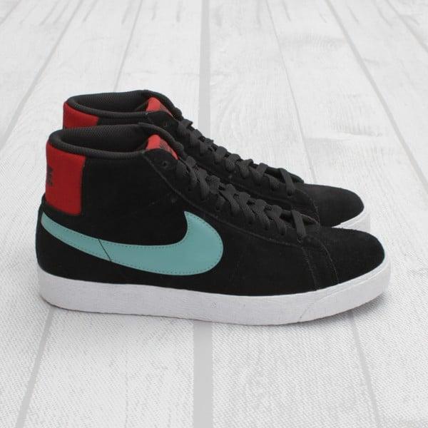 Nike SB Blazer 'Black/Sea Crystal-Varsity Red'