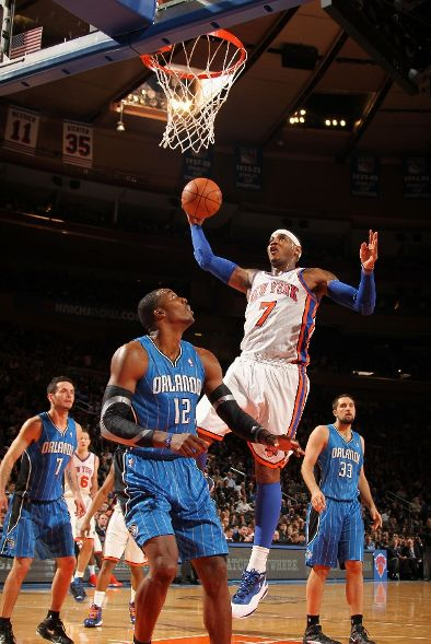 delicate Melo Dons All Star Kicks in Win Over Magic - arcsouthington.org ad45ba375e97