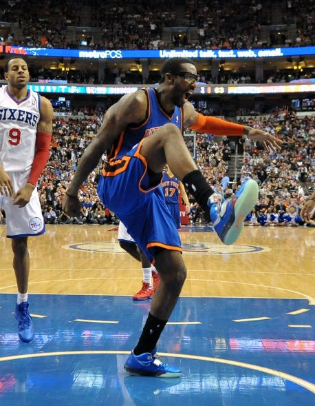 Amar'e Stoudemire Rocks 'Galaxy' Air Max Sweep Thru in Philly