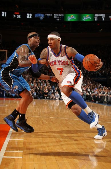 Melo Dons 'All-Star' Kicks in Win Over Magic