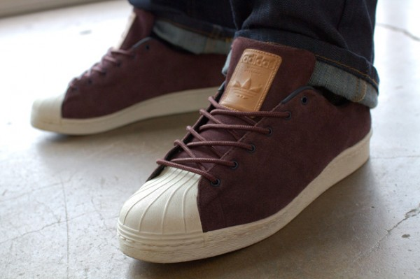 huge discount c1cef 8b14e adidas Originals Superstar 80s Clean  Mahogany