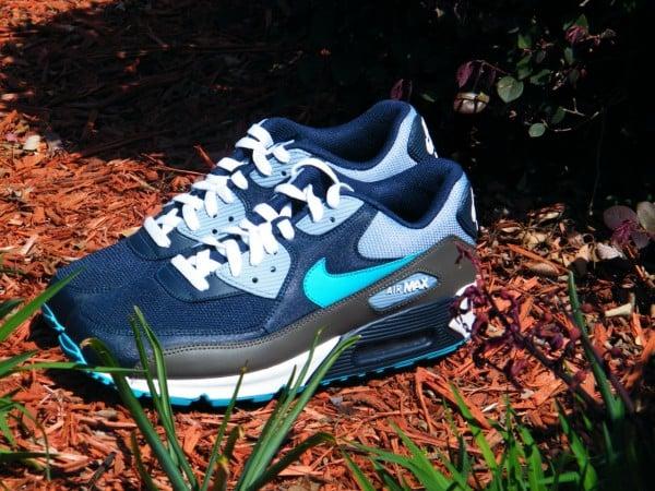 Nike Air Max 90 'ObsidianTurquoise Blue Blue Grey White