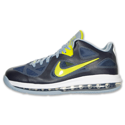 super popular de3b9 bc886 Nike LeBron 9 Low Obsidian Cyber White Blue Grey Now Available at Finish  Line outlet