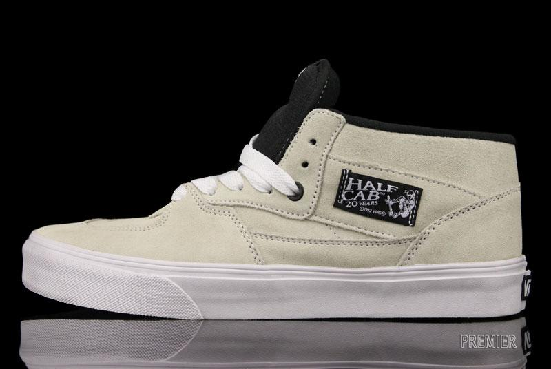 Vans Half Cab 20th Anniversary  White  - Now Available  63320550b