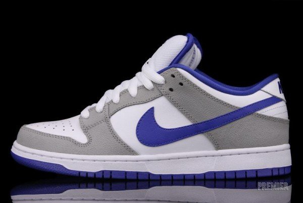 Nike SB Dunk Low 'Matte Silver/Varsity Royal-White' - Now Available
