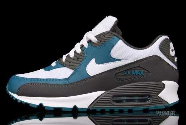 Nike Air Max 90 'White/Midnight Fog-Lush Teal' - Now Available at Premier