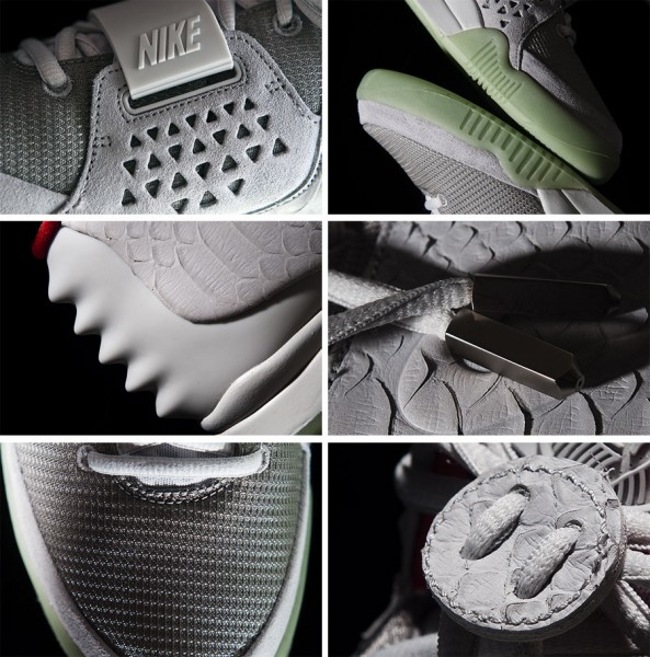 Nike Air Yeezy 2 'Wolf Grey/Pure Platinum' - Detailed Look