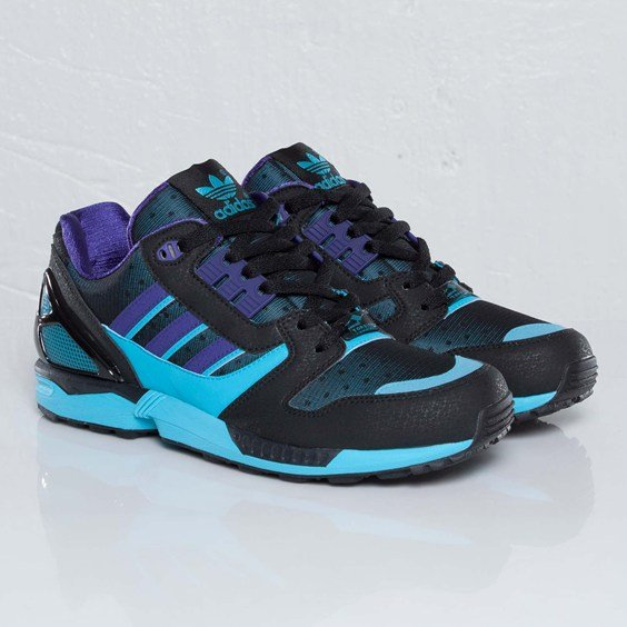 adidas Originals ZX 8000 'BlackCollegiate Purple Super Cyan'