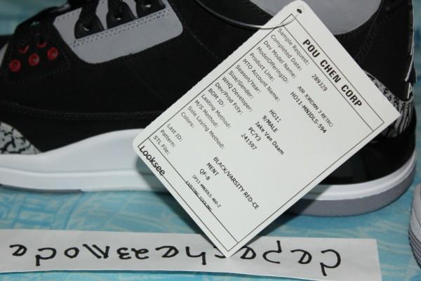 Air Jordan III (3) 'Black/Cement' Unreleased Nubuck Sample
